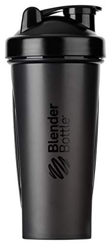 BlenderBottle Classic Shaker cup / Diet Shaker / Protein Shaker with Blenderball / 600ml, Black