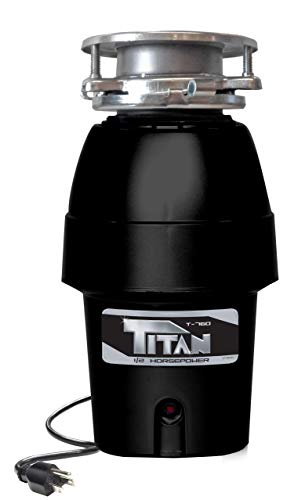 Titan T-760 Garbage Disposal, 1/2 HP - Mid Duty, black