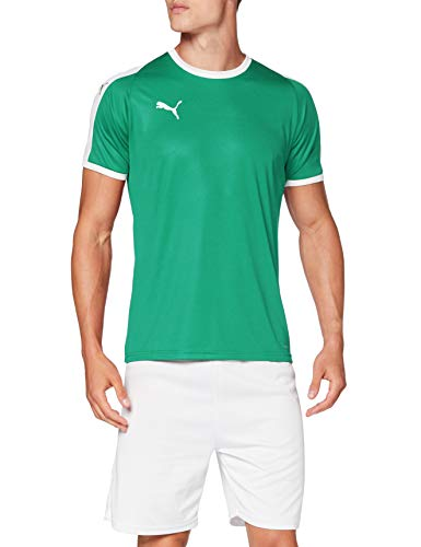 PUMA Liga Jersey T-Shirt, Hombre, Pepper Green White, M