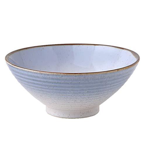 Blauwe keramische kom Chinese stijl servies kom keramiek kom (kleur: zwart)