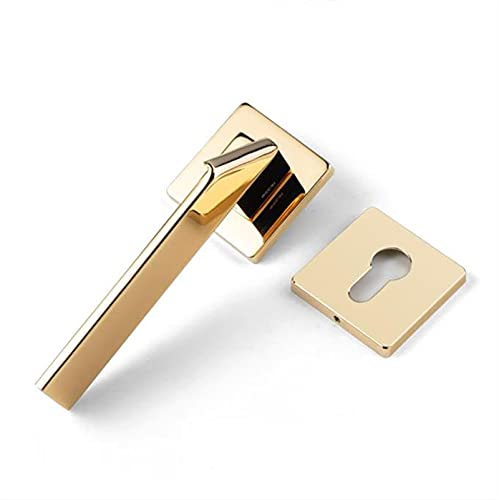 DDBAKT Tirador de puerta plegable para dormitorio con cerradura antirrobo para puerta interior, cerradura de seguridad y silencio (respaldo: 55 mm, color: o)