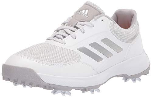 adidas womens Golf Shoe, White/Silver/Grey, 7 US