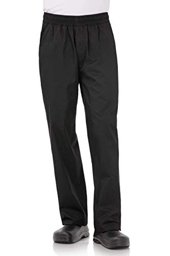 Chef Works Men's Lightweight Baggy Chef Pants, Black, X-Large