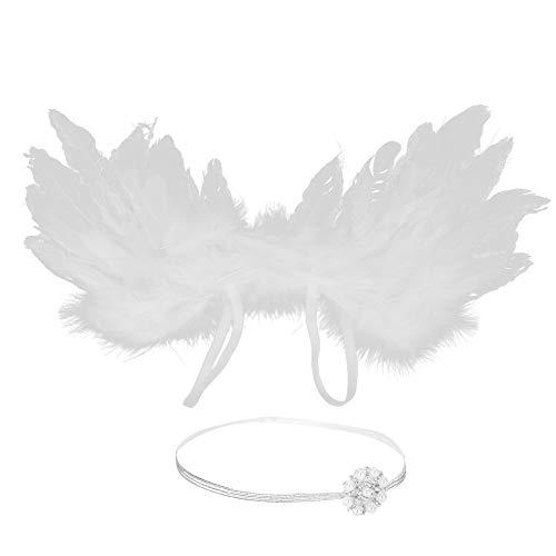 Chennie Baby Silber Rand Strass Stirnband mit Engelsflügeln Neugeborenen Baby Fotografie Requisiten
