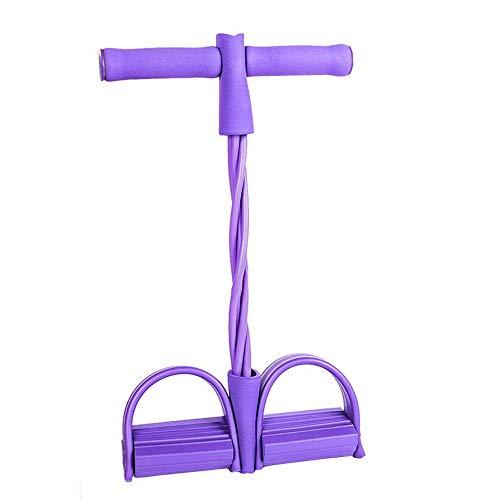 Amokee Multifunktions-Leg-Exerciser, Upgrade 4 Tubes Elastische Zugseil Trainingsgeräte, Sit-up Bodybuilding Expander für Abdomen,Taille, Arm, Heimgymnastik Yoga Stretching Schlankheitstraining