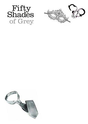 Cinquante nuances de gris Papier à lettre pré-imprimé à thème, 25 feuillets A5, Uni, Lot 1