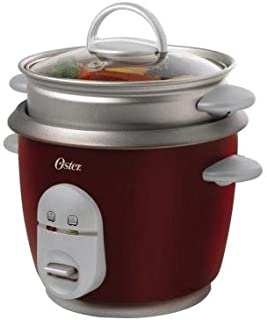 6-Cup Rice Cooker in Red Includes 1 Steaming Tray, Measuring Cup And Rice Paddle
