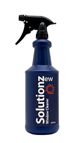 New Solutionz Window & Glass Cleaner - Safe for Mirrors, Windshields, Tinted Windows - Professional Grade Formula That Removed Dirt & Grime While Leaving Glass Streak-Free & Shiny - Ammonia-Free