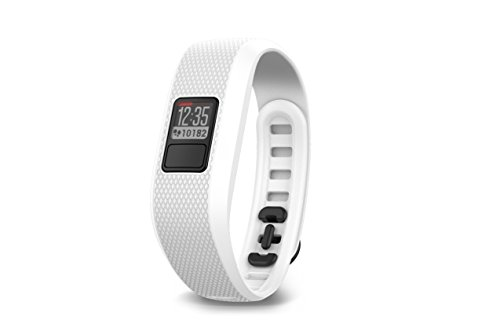 Garmin Vívofit 3-Pulsera de Actividad, Unisex, Color Blanco, Talla Regular, Adulto, Única (Reacondicionado Certificado)