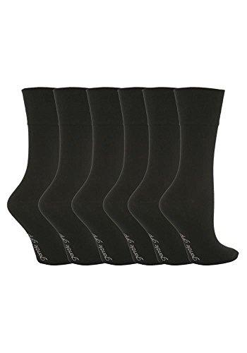 Gentle Grip 12 Paar Damen SockShop Cotton Socken Schuhgröße UK 4-8 EUR 37-42 Schwarz RG67