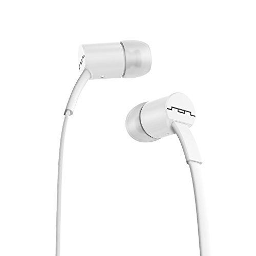 SOL Republic Jax In-Ear Kopfhörer, Geräuschisolierende, kabellose Ohrhörer mit Mikrofon + 1-Knopf-Steuerung, hochwertiger Klang mit kräftigem Bass, 4 Ohrstöpselgrößen für ideale Passform, white