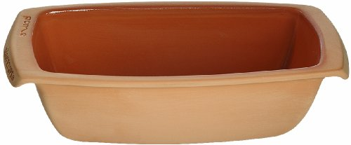 Romertopf Rectangular Bread Reston Lloyd Natural Glazed Clay, Tan