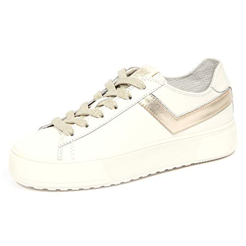 Pony 3065J Sneaker Donna Off White/Gold Elite Leather Shoe Woman [37]