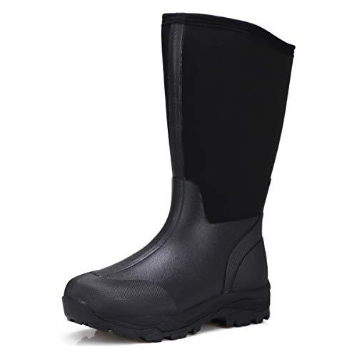 [ミツウマ] メンズ 紳士 防寒長靴 シーザーウルフ No.2036MU (ブラック, measurement_24_point_5_centimeters)