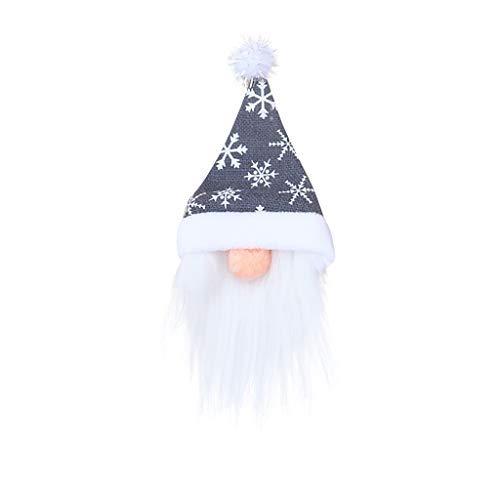Botella de vino de Navidad cubierta decorativa adorable botella de vino sombrero de Santa Claus bolsas de botella para fiesta de Navidad..