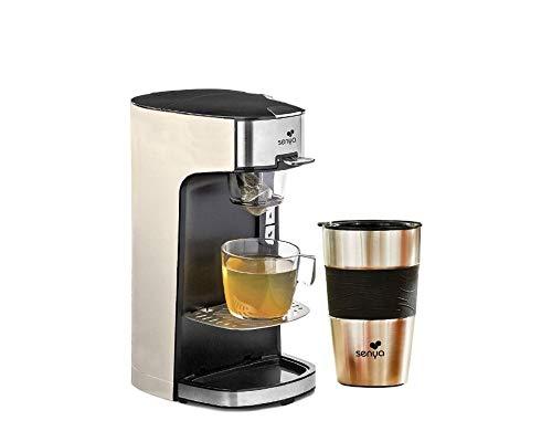 SENYA Machine à Thé Tea Time Théière Électrique Crème 1415W et Son Tea Mug isotherme