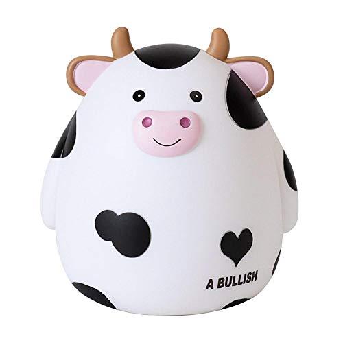 FUKAIUK Spardose mit Cartoon-Kuh-Motiv, niedlich, dekorativ, für Kinder, Jungen, Mädchen, Kinderzimmer, Geschenk, Geld sparen