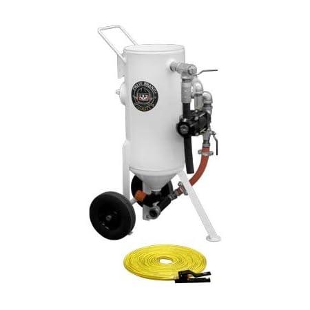 Pressure Release System Ft. Abrasive Sandblasting Machine Base Package Portable Pneumatic 6.5 Cu 185 Liters