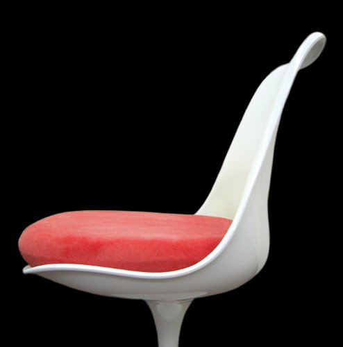 Slip-on Cushion Cover for Saarinen Tulip Side Chair (Red)