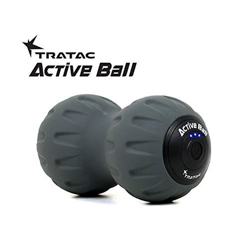 TRATAC ActiveBall - High Intensity Fitness Vibration Ball/Back Pain & Recovery Massage Ball (9Hx18L, Grey)