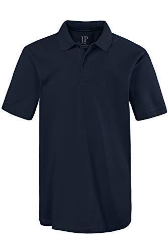 JP 1880 Herren, Poloshirt , Halbarm, Unifarben, Farbe: Blau (blau 70), Gr. 5XL