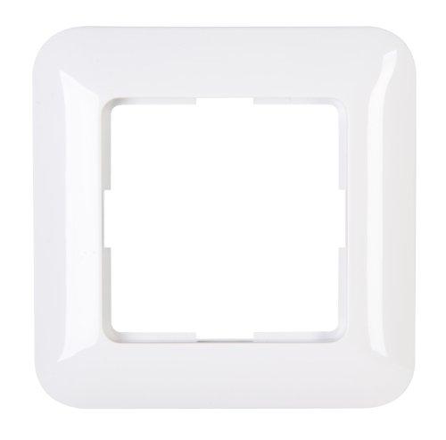 Kopp 405002009 Abdeckrahmen 1-fach Schalterprogramm Cadiz in Farbe arktis-weiß