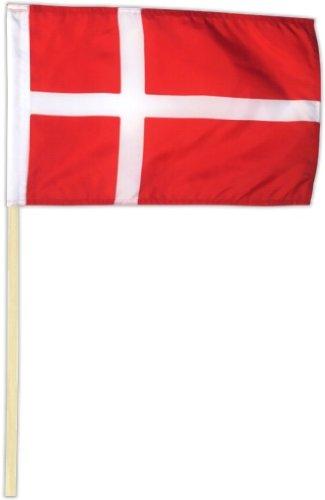 Fahne Flagge Dänemark 30 x 45 cm mit Stab [Spielzeug]