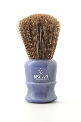 """Epsilon de Caballo Marrón """"Fan Shape"""" con nudo de 26mm y mango resina azul"""