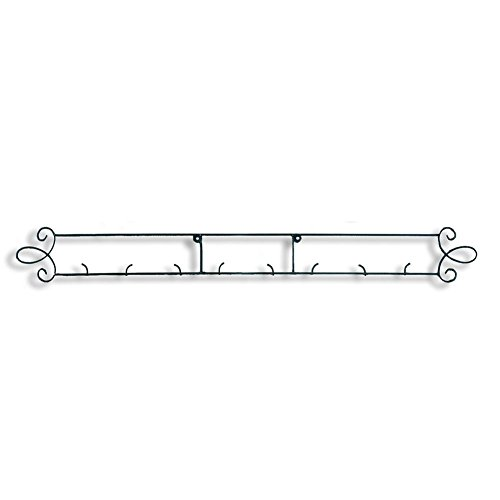 Tripar Black Horizontal Plate Rack 44.75'W 4-Place Rack for Collectible Plates and Plaques