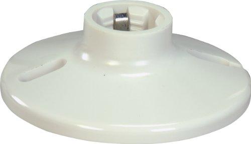 EATON Wiring S1174W-SP-L 660-Watt, 250-Volt Plastic One Piece Keyless Switch Ceiling Receptacle Lamp Holder, White