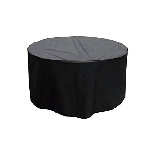 NINGWXQ Mesa Redonda Cubiertas Muebles de jardín Patio al Aire Libre a Prueba de Lluvia de Polvo/Sol Impermeable protección inactivo Muebles, 25 Tamaños (Color : Negro, Size : 200x90cm)