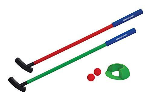 Schildkröt Mini-Golf Set, Golf-Set für Kinder, Indoor- und Outdoor Minigolf, komplettes Golfset mit 2 Schlägern, 1 freistehendem Ziel und 2 Bällen, für 2 Spieler, 970307