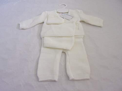 NISSANOU Coffret Naissance Brassière 0 à 3 Mois Blanc 4 piéces idée cadeau bébé maternité ou idée annonce de grossesse