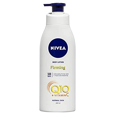 NIVEA Light Firming Body Lotion Q10 + Vitamin C (400 ml), Nourishing Firming Cream with Q10 & Vitamin C, NIVEA Soft Moisturising Cream for Firm Skin