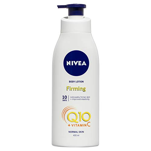 NIVEA Q10 Plus C Moisturising Body Lotion for Normal Skin (400ml), Firming Body Cream enriched with Q10 & Vitamin C for firm skin