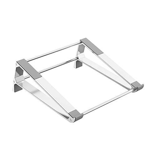 WANGQI Soporte para ordenador portátil de aluminio P5, soporte plegable de doble capa para disipación de calor de aleación de aluminio