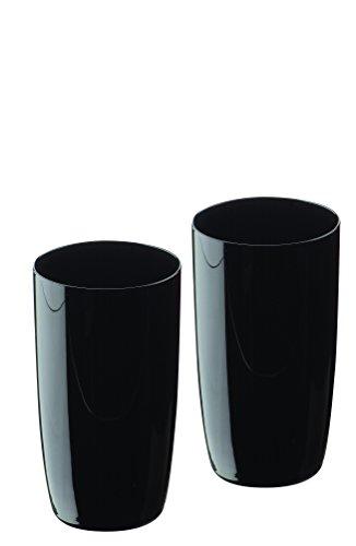Artland Set aus 2 Midnight Longdrink Gläsern, schwarz