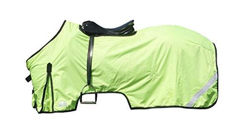 netproshop Sicherheit Pferde Reflex-Ausreitdecke mit Fleece Wasserabweisend Gelb Cob Full, Groesse:145