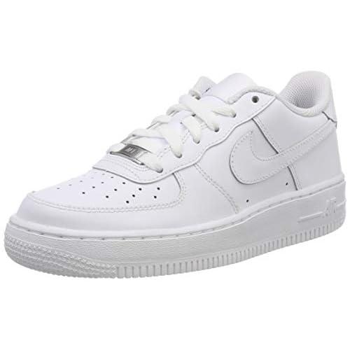 Nike Air Force 1(GS), Scarpe da Basket per Bambini,, Bianco (Blanco/Blanco), 35.5 EU