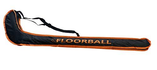 HALE Floorball/Unihockey Schlägertasche Striker JUNIOR, für 1-2 Schläger bis Schaftlänge 92 cm (schwarz/orange)