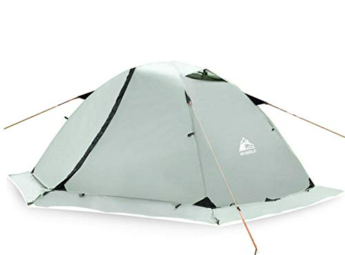 Mdsfe Hewolf Outdoor Professional Double-layer Tent Wild Snow Mountain Camping Equipment Multi-Person Ultra-light Snow Skirt Tent 2.8g-greenwith snow skirt