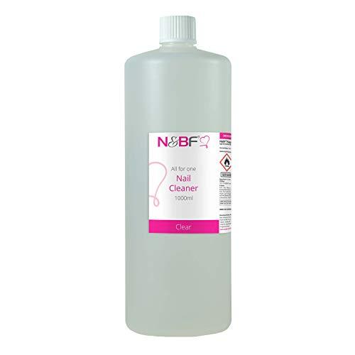 N&BF Nagel Cleaner Klar 1000ml = 1 Liter – für Gelnägel – Nagelreiniger – Nail-Cleaner – 70% Ethanol-Alkohol kosmetisch rein in Studioqualität zum Entfetten und Reinigen - Made in Germany