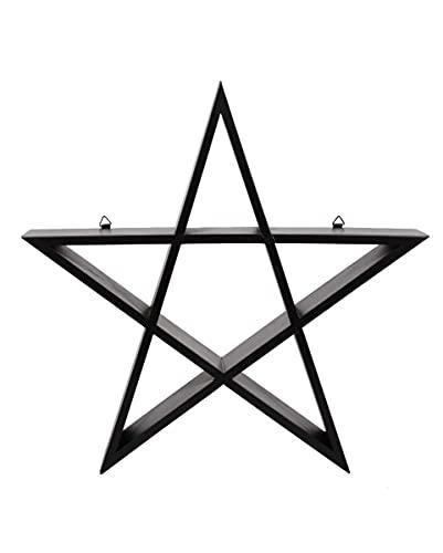 Horror-Shop Estantería Pentagrama Negra 40cm