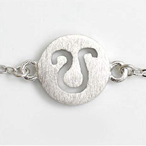 Sterling zilveren armband dames, bedel dame 925 sterling zilver retro armband mode Twaalf sterrenbeeld sieraden persoonlijkheid zilveren armband eenvoudige leo elegante casual comfortabel elegant kerstmis