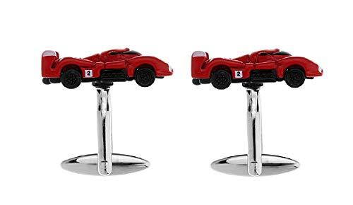 Gemelolandia | Boutons de Manchette Ferrari Le Mans originaux Pour Chemises Pour homme et enfant Cadeaux Pour mariage, communion, baptême et autres événements