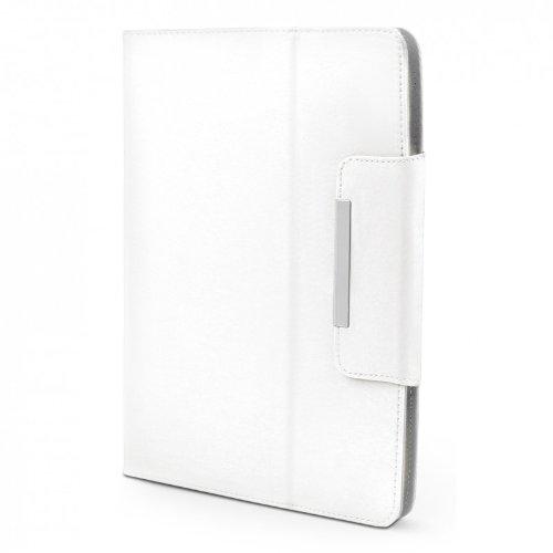 ROYALZ Hülle für Medion LifeTab P10603 (MD 60876) Tasche (10.1 Zoll) Schutz Hülle Cover Schutzhülle Schutztasche mit Aufsteller in hochwertiger Leder-Optik, Farbe:Weiß