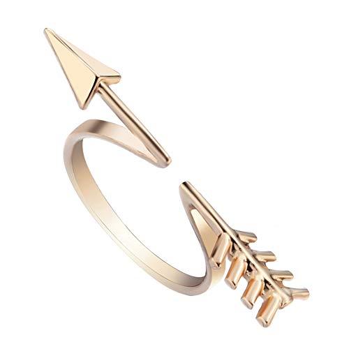 HXML Coppia Anelli personalità Freccia di Cupido Freccia Apertura Dell'anello Misto Club Partito Natale Compleanno Regalo,d'oro