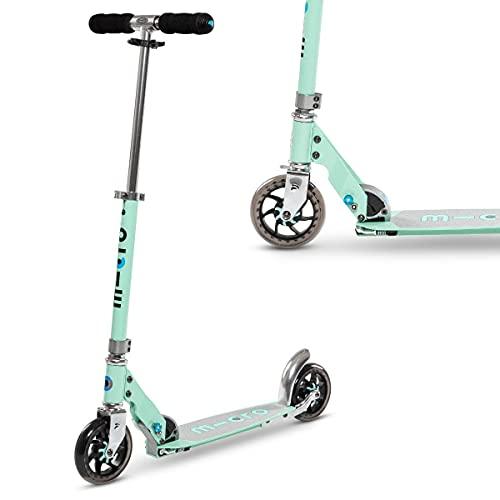 Micro Mobility - Trottinette Speed+ - Élégante citadine compacte et Anti-Vibrations - Couleur Mint - Poignées rabattables -...