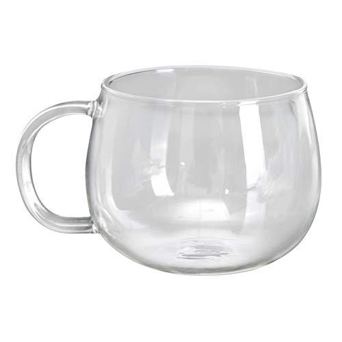 XIN NA RUI Vasos Cafe 260ml Copa de Vidrio Resistente al Calor Hecho a Mano Cristal Cristal Mini Kungfu Tea CAFÉ TÉ CAFÉ Tea Taza DE Bebida Redonda Taza DE Moda Corte