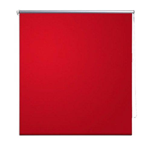 vidaXL Estor para Ventana Rojo 120x175 cm Persiana Enrollable Clip Seguridad